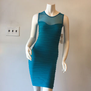 Soho Tight Mini Dress in Turquoise
